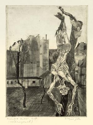 Akasztott ember, 1957. Fotók: Magyar Képzőművészeti Egyetem