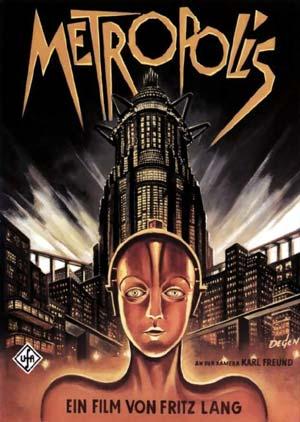 Fritz Lang Metropolis című filmjének plakátja